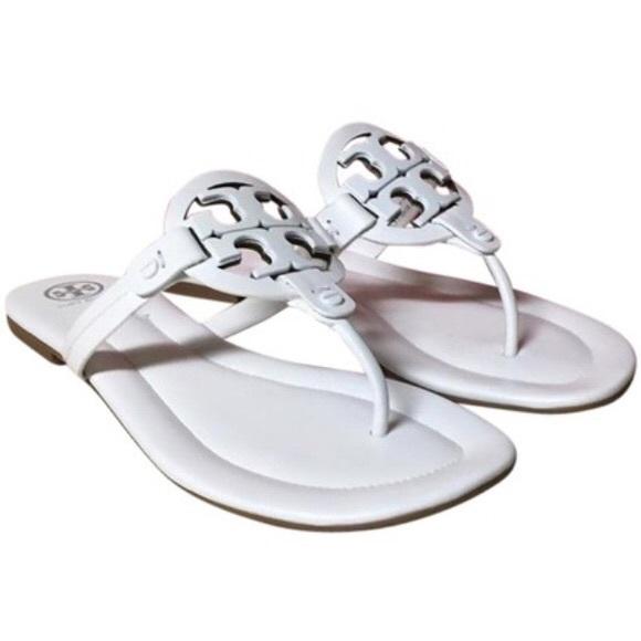 0af9cb88b4bcb5 Tory Burch Miller White Thong Sandals. M 5ac14c3072ea883c626d22d3